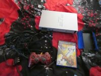 SILVER PS2 CONSOLE BUNDLE,LEGEND OF KAY GAME,CONTROLLER