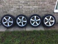 """5x112 et45 17"""" alloy wheels"""