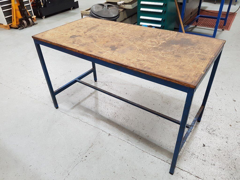 Industrial steel frame work bench (Used)   in Poole, Dorset   Gumtree