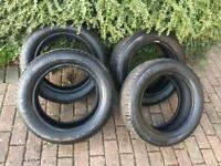 4x Tyres Dunlop Sport (2x 5mm & 2x3mm)