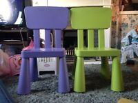 2 kids ikea chairs