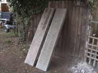 PAIR OF 6FT H/DUTY GALV STEEL CAR/PLANT RAMPS IDEAL TRAILER/TRUCK ETC