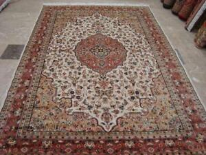 Awesome Aina Medallion Floral Oriental Area Rug Hand Knotted Wool Silk Carpet (9 x 6)'