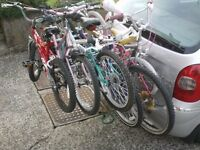 NEW TOWBAR BIKE RACKS (carry 4 or even more price £65)