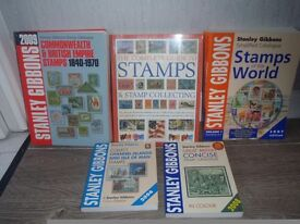 Selection of Stanley Gibbons books about stamps