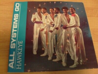 """HAWKEYE 7"""" DJ P/S 45 ALL SYSTEMS GO 1983 Beantown BM 708 MODERN SOUL PROMO HTF for sale  Shipping to India"""