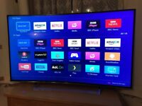 Hisense 55 inch CURVED 4K ultra hd smart led tv. In excellent condition £450 NO OFFERS.CAN DELIVER