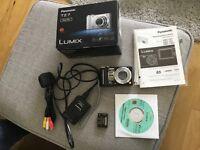 Panasonic DMC TZ7 black digital camera 10.1 megapixel with box and instructions