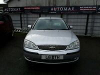 07 FORD MONDEO 2LTR GEAR TDCI 5DR 6 SPEED IN MOON DUST SILVER ( DIESEL )