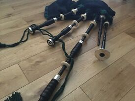 Vintage Bagpipes Silver & Ivory