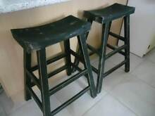 Black Japenese Style Twin Kitchen Bench Stool Seats Mango Hill Pine Rivers Area Preview