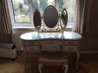 Dressing Table with Mirror, Wardrobe, 2 x Wall Mirrors, Chest of drawers, Bedside tables