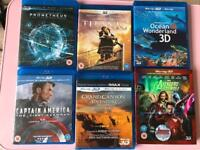 3D movies 6 blu rays