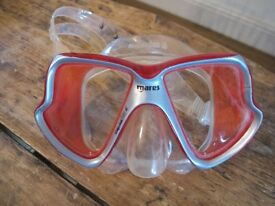 MARES Liquid Skin DIVE diving MASK Red X-vision Silicone