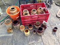 Stoneware storage jars jugs approx 24