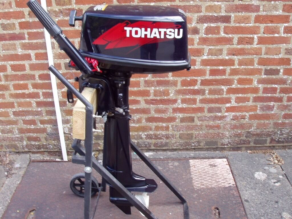 Long Shaft Outboard Motors : Outboard engine tohatsu hp stroke motor boat auxiliary