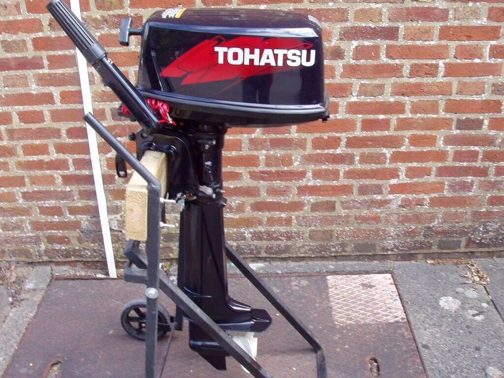 Outboard engine tohatsu 5hp 2 stroke motor boat auxiliary Two stroke outboard motors