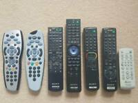 Remote controls for sky and Sony electronics