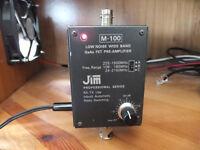 Ham radio scanner JIM M100 pre-amplifier professional series