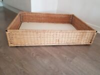 Wicker storage box under bed - 2 storage boxes