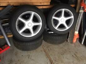 "MG MGF MGB TR7 TR8 Rover - pcd 100mm 3.75"" Alloy Wheels - 195/55/r15"