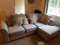 Beautiful Corner Sofa with Swivel Armchair and foot rest