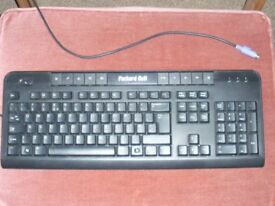 PC keyboard and speakers
