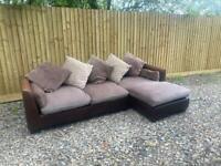 FREE DELIVERY - Fabric corner sofa