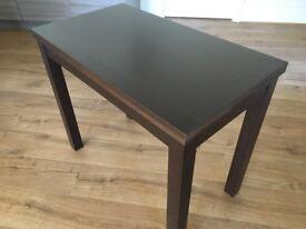 IKEA Bjursta Dark Finish Extendable Table