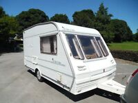 1995 ABBEY CHORUS 2 BERTH TOURING CARAVAN EXCELLENT CONDITION INSIDE /OUT DAMP CHRIS CHECKED