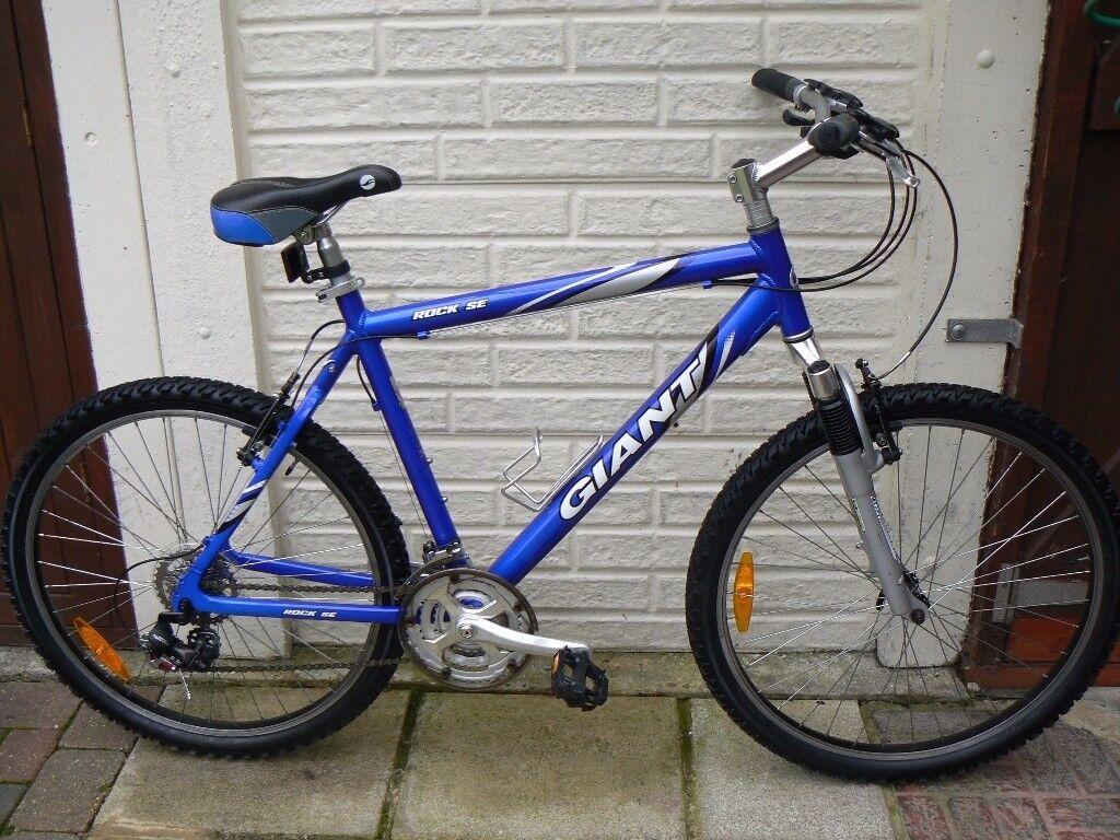 """Gents/Boys (hardly used) Aluminium """"Giant Rock se"""" Mountain Bike"""