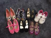 7 pairs kids shoes including skechers twinkle toes