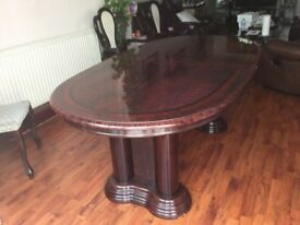 Italian Dining Table and Six Chairs for sale.