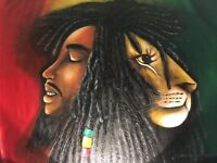 Bob Marley oil painting on canvas 1000mm wide x 750mm heigh