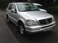 MERCEDES BENZ ML 270 CDI DIESEL AUTO 110K FSH LOW MILEAGE IN IMMACULATE CONDITION INSIDE OUT BARGAIN
