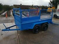 Trailer painted 8x4 with mesh