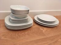 Set of plates and bowls