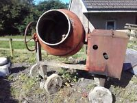 Lister diesel concrete mixer