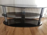 TV Stand - Glass Oval