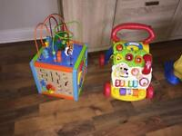 Baby activity bundle ,activity cube and walker