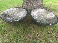 Pair Of High Quality Glass Sink / Basins - Gold Leaf?