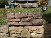 buff garden walling 45cm x 15 and coping stones 45x 15