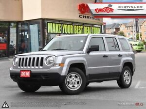 2016 Jeep Patriot SPORT 2.4 6 SPEED AUTOMATIC CRUISE CONTROL