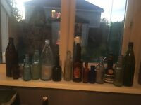 Job Lot of mixed antique bottles
