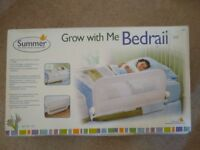 Summer Grow with me bedrail - single white - almost new boxed - £8