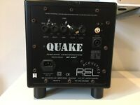 REL Acoustics Quake 100 watt mosfet sub-bass speaker stystem