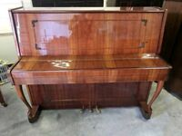 Beautiful Oak 'Rubinstein' Upright Console Piano & Stool - CAN DELIVER