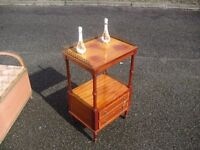 Most Pretty Mahogany Side Display Table Stand