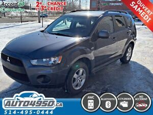 2012 Mitsubishi Outlander awd, 4 cylindres, bleutooth, 2.4L, fin