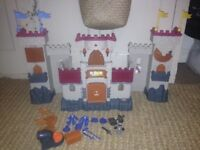 Fisher Price Imaginext castle with accessories. Lights and sounds